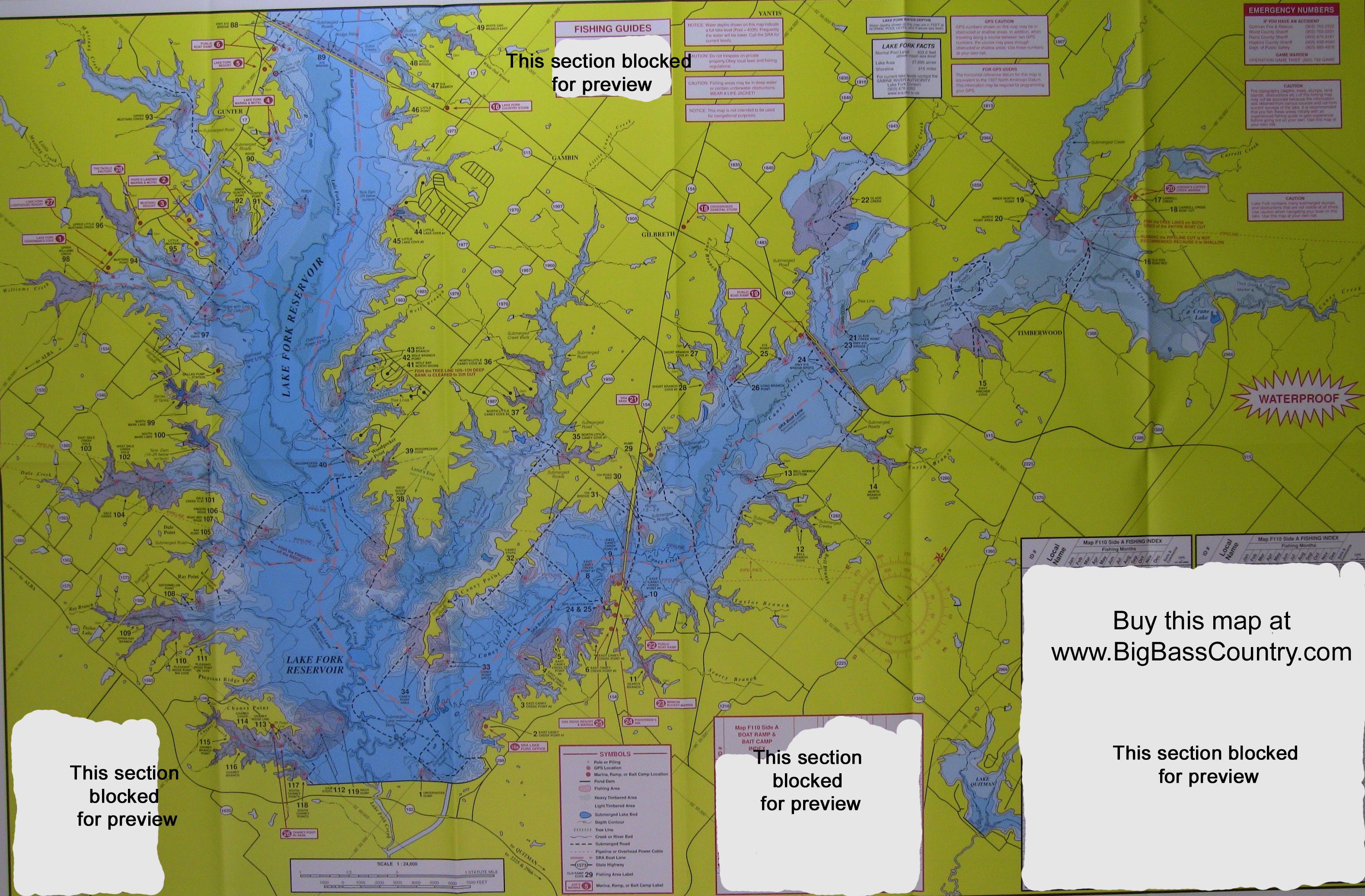Lake fork fishing topographical map for Lake fork fishing hot spots
